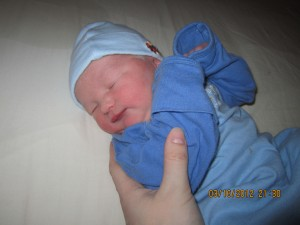 My little nephew boy, not even a day old.