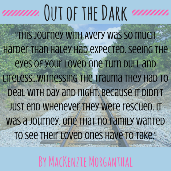 -This journey with Avery was so much harder than Haley had expected. Seeing the eyes of your loved one turn dull and lifeless...witnessing the trauma they had to deal with day and night.