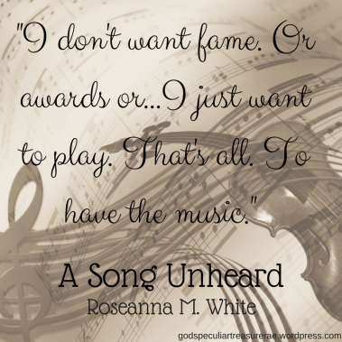 _I don't want fame. Or awards or...I just want to play. That's all. To have the music._