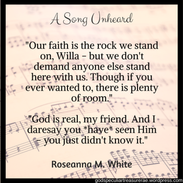 _Our faith is the rock we stand on, Willa - but we don't demand anyone else stand here with us. Though if you ever wanted to, there is plenty of room.__God is real, my friend. And I dare