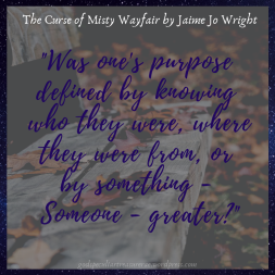 _was one's purpose defined by knowing who they were, where they were from, or by something - someone - greater__